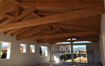 Realizzazione tetto con capriate